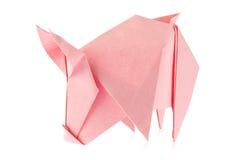 Ρόδινος χοίρος του origami Στοκ φωτογραφίες με δικαίωμα ελεύθερης χρήσης