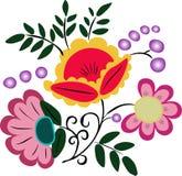 ρόδινο άνευ ραφής κεραμίδι φύλλων λουλουδιών πράσινο Στοκ φωτογραφία με δικαίωμα ελεύθερης χρήσης