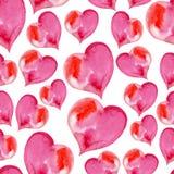 Ρόδινο άνευ ραφής σχέδιο των καρδιών για το βαλεντίνο Στοκ φωτογραφία με δικαίωμα ελεύθερης χρήσης