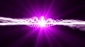Ρόδινο άνευ ραφής υπόβαθρο μορίων ικανό στο βρόχο φιλμ μικρού μήκους