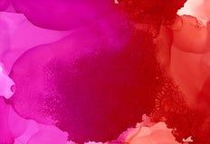 Ρόδινο ανοιχτό κόκκινο με τη ρωγμή ελεύθερη απεικόνιση δικαιώματος