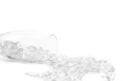 ρόδινο γυαλί καρδιών στο άσπρο υπόβαθρο στοκ φωτογραφίες με δικαίωμα ελεύθερης χρήσης