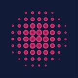 Ρόδινο ημίτονο υπόβαθρο κύκλων, ημίτονο σχέδιο σημείων Στοκ φωτογραφία με δικαίωμα ελεύθερης χρήσης