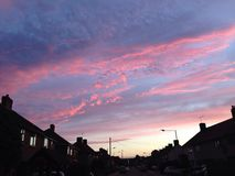 ρόδινο ηλιοβασίλεμα στοκ εικόνες με δικαίωμα ελεύθερης χρήσης