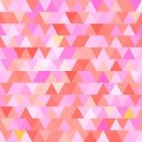 Ρόδινο διανυσματικό άνευ ραφής σχέδιο με τα τρίγωνα αφηρημένη ανασκόπηση Στοκ εικόνα με δικαίωμα ελεύθερης χρήσης
