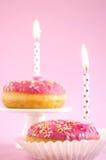 Ρόδινο κέικ γενεθλίων Στοκ Φωτογραφίες
