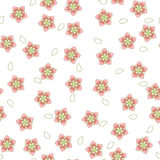 Ρόδινο και άσπρο σχέδιο sakura επίσης corel σύρετε το διάνυσμα απεικόνισης Στοκ Εικόνα