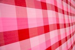 Ρόδινο και κόκκινο ριγωτό ύφασμα Στοκ φωτογραφίες με δικαίωμα ελεύθερης χρήσης