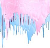 Ρόδινο και μπλε στάλαγμα χρωμάτων στοκ εικόνα με δικαίωμα ελεύθερης χρήσης