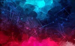Ρόδινο και μπλε υπόβαθρο κτυπημάτων βουρτσών κακογραφίας Αμερικανός διακοσμεί διανυσματική έκδοση συμβόλων σχεδίου την πατριωτική Στοκ φωτογραφία με δικαίωμα ελεύθερης χρήσης