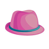 Ρόδινο καπέλο κινούμενων σχεδίων απεικόνιση αποθεμάτων