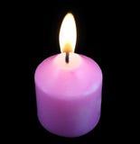 Ρόδινο κερί σε ένα σκοτάδι Στοκ Εικόνες