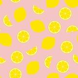 Ρόδινο κεραμίδι σχεδίων λεμονάδας άνευ ραφής διανυσματικό Στοκ Εικόνες