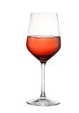 ρόδινο κρασί γυαλιού Στοκ Φωτογραφίες