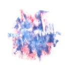 Ρόδινο, μπλε υπόβαθρο λεκέδων μελανιού splatter που απομονώνεται Στοκ φωτογραφία με δικαίωμα ελεύθερης χρήσης