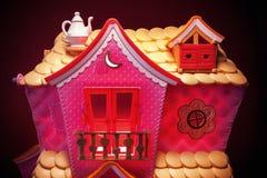 Ρόδινο παιχνίδι σπιτιών Στοκ εικόνα με δικαίωμα ελεύθερης χρήσης