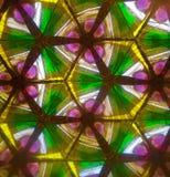Ρόδινο πράσινο και κίτρινο καλειδοσκόπιο Στοκ Εικόνα