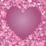 Ρόδινο πλαίσιο καρδιών απεικόνιση αποθεμάτων
