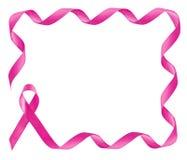 Ρόδινο πλαίσιο κορδελλών συνειδητοποίησης καρκίνου του μαστού Στοκ Εικόνες