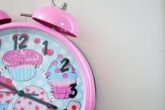 Ρόδινο ρολόι κουδουνιών Στοκ Εικόνες