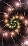 Ρόδινο σπειροειδές fractal διανυσματική απεικόνιση