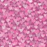 Ρόδινο σχέδιο καρδιών διανυσματική απεικόνιση