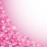 Ρόδινο σχέδιο 1 καρδιών διανυσματική απεικόνιση