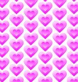 Ρόδινο σχέδιο καρδιών Στοκ εικόνα με δικαίωμα ελεύθερης χρήσης