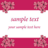 Ρόδινο σχέδιο προτύπων καρτών λουλουδιών Στοκ Εικόνες