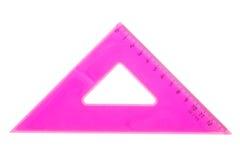 Ρόδινο σχολικό τρίγωνο Στοκ Εικόνα