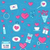 Ρόδινο υπόβαθρο αγάπης σχεδίου γραμμών Το δαχτυλίδι, ρομαντική μουσική, με αγαπά Στοκ Εικόνες