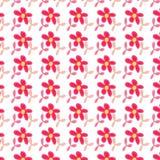 Ρόδινο υπόβαθρο σχεδίων λουλουδιών άνευ ραφής Ελεύθερη απεικόνιση δικαιώματος