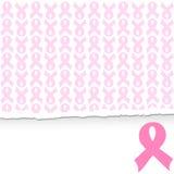 ρόδινο υπόβαθρο υποστήριξης καρκίνου του μαστού κορδελλών Στοκ φωτογραφία με δικαίωμα ελεύθερης χρήσης