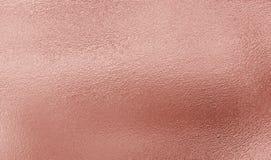 Ρόδινο χρυσό υπόβαθρο σύστασης φύλλων αλουμινίου Στοκ εικόνες με δικαίωμα ελεύθερης χρήσης