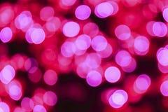 Ρόδινο bokeh στη Παραμονή Χριστουγέννων Στοκ εικόνα με δικαίωμα ελεύθερης χρήσης