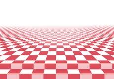 Ρόδινο checkerboard υπόβαθρο πατωμάτων Στοκ Εικόνα