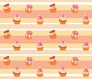 Ρόδινο cupcake υποβάθρου Στοκ εικόνα με δικαίωμα ελεύθερης χρήσης