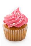 Ρόδινο cupcake Στοκ εικόνες με δικαίωμα ελεύθερης χρήσης