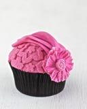 Ρόδινο Cupcake Στοκ Φωτογραφίες