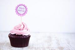 Ρόδινο cupcake Στοκ φωτογραφίες με δικαίωμα ελεύθερης χρήσης