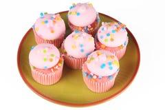 Ρόδινο Cupcakes στοκ εικόνες