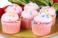 Ρόδινο Cupcakes στοκ φωτογραφία με δικαίωμα ελεύθερης χρήσης