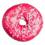 Ρόδινο doughnut απομονωμένος Στοκ εικόνες με δικαίωμα ελεύθερης χρήσης
