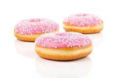 Ρόδινο doughnut Στοκ εικόνα με δικαίωμα ελεύθερης χρήσης