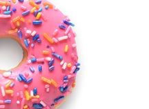 Ρόδινο doughnut στοκ φωτογραφία με δικαίωμα ελεύθερης χρήσης