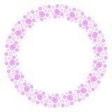 Ρόδινο floral πλαίσιο ελεύθερη απεικόνιση δικαιώματος