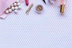Ρόδινο makeup Στοκ φωτογραφία με δικαίωμα ελεύθερης χρήσης