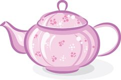 ρόδινο teapot Στοκ Φωτογραφίες