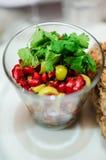 Ρόδι και σαλάτα ελιών Στοκ Εικόνες