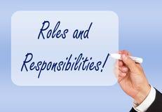 Ρόλοι και ευθύνες! στοκ φωτογραφία με δικαίωμα ελεύθερης χρήσης